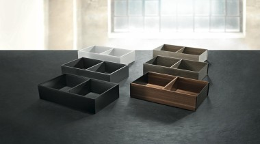 The new Legrabox drawer system from Blum boasts furniture, table, black, white