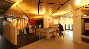 CoffeyEducation and Arts Property Award – Excellence AwardThis architecture, ceiling, floor, flooring, interior design, lobby, wood, brown, orange