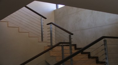Micro Topping 30 - Micro Topping_30 - angle angle, architecture, daylighting, glass, handrail, line, stairs, wall, wood, black, gray