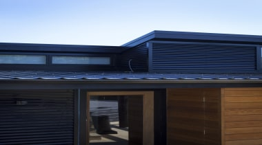 WaitakereHouse3 - Waitakere House 3 - architecture | architecture, building, daylighting, facade, home, house, real estate, residential area, roof, shed, siding, sky, window, black
