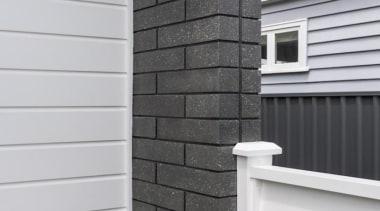 A-lign Concealed Fix 05 - A-lign Concealed Fix brick, brickwork, facade, home, house, roof, siding, stone wall, wall, window, wood stain, gray, black