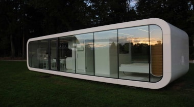 Coodo is a German mobile home modular system architecture, home, house, product design, black