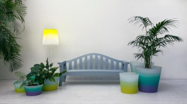 There's a whole spectrum of colour to enjoy arecales, flowerpot, furniture, green, interior design, palm tree, plant, table, gray, white