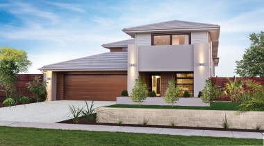 Monier Concrete Tiles - Horizon - Monier Concrete building, elevation, estate, facade, home, house, official residence, property, real estate, residential area, roof, gray