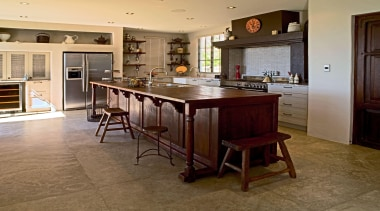 566 whitford rd kitchen.jpg - 566_whitford_rd_kitchen.jpg - cabinetry cabinetry, countertop, cuisine classique, floor, flooring, hardwood, interior design, kitchen, laminate flooring, room, table, wood flooring, brown