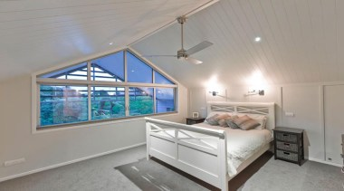 HardieGroove Lining - HardieGroove Lining 4 - bedroom bedroom, ceiling, daylighting, estate, home, interior design, property, real estate, room, window, gray