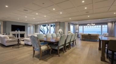 Living area - Living area - ceiling   ceiling, deck, interior design, real estate, brown, gray