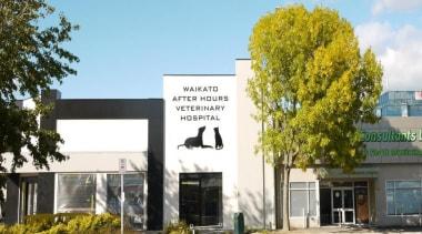 Waikato Veterinary Hospital - Waikato Veterinary Hospital - advertising, building, facade, home, house, property, real estate, white