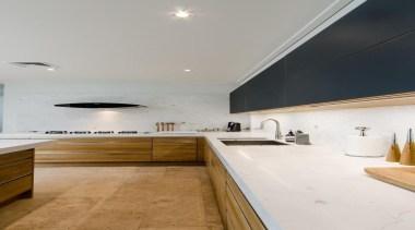Pepper Design - Team 7 Kitchen featuring Carrara architecture, bathroom, ceiling, countertop, daylighting, floor, interior design, kitchen, room, sink, gray