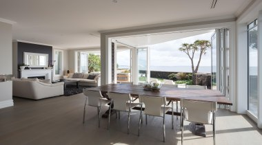 23 dining after - Dining After - architecture architecture, dining room, floor, flooring, house, interior design, living room, real estate, table, window, gray