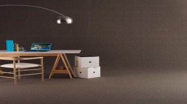 This patterned loop pile with its 'matrix' of angle, desk, floor, flooring, furniture, interior design, product design, table, wall, wood, black, gray
