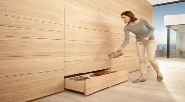 MOVENTO offers a feather-light glide for wooden drawers drawer, floor, flooring, furniture, hardwood, laminate flooring, plywood, wood, wood flooring, wood stain, orange