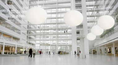 """OH"" from Manamana, Italy - Pendant Light - architecture, building, ceiling, daylighting, lobby, metropolitan area, shopping mall, tourist attraction, white, gray"