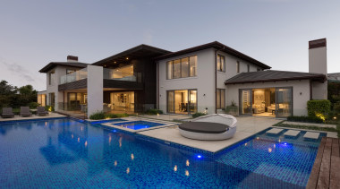 Kohi1 - estate | home | house | estate, home, house, property, real estate, swimming pool, villa, window, gray, blue