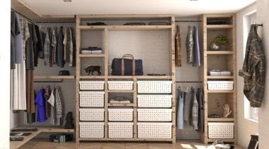 Tanova Ventilated Drawers in Wardrobe Setting - Classic closet, furniture, room, wardrobe, white