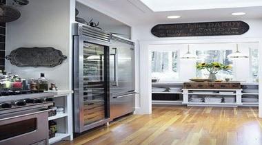 Large Fridge - Large Fridge - cabinetry   cabinetry, countertop, floor, flooring, home appliance, interior design, kitchen, kitchen appliance, refrigerator, room, white, gray