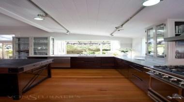 Grand Old Auckland Villa - Grand Old Auckland cabinetry, ceiling, countertop, cuisine classique, daylighting, floor, hardwood, interior design, kitchen, real estate, room, window, wood flooring, gray