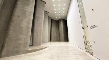 The Len Lye Centre 04 - The Len architecture, floor, interior design, property, structure, wall, white
