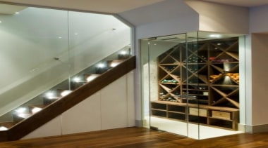 Modern Wine Cellar Ideas - Modern Wine Cellar ceiling, floor, flooring, glass, interior design, brown, gray