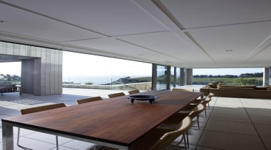 Waiheke - Cavity Stackers - waiheke - architecture architecture, ceiling, daylighting, floor, house, interior design, real estate, roof, table, window, gray