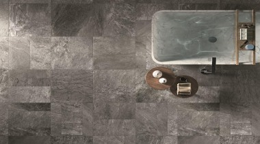 Suitable for use in private,public and retail locations,natural-look floor, texture, tile, wall, gray