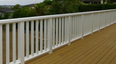Tru-Pine - baluster | deck | fence | baluster, deck, fence, guard rail, handrail, outdoor structure, picket fence, wood, wood stain, brown, gray