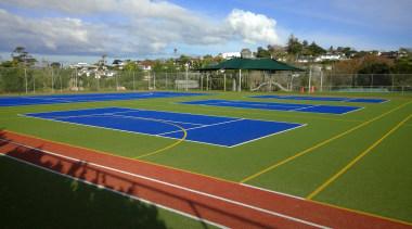 Pre-school, primary & seconday education - Pre-school, primary artificial turf, grass, line, plant, sport venue, sports, stadium, structure, tennis court, brown