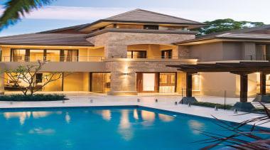 Monier Concrete Tiles - Horizon - Monier Concrete apartment, elevation, estate, facade, home, house, mansion, property, real estate, residential area, resort, swimming pool, villa, window