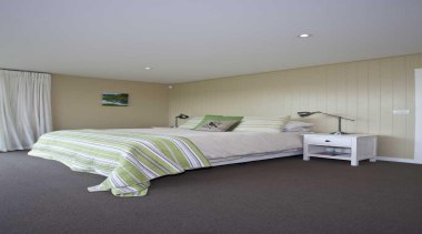 Bedroom contemporary - Bed - bed | bed bed, bed frame, bedroom, ceiling, floor, flooring, furniture, home, house, interior design, mattress, property, real estate, room, wall, gray