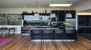 See the winner and all the finalists - floor, flooring, interior design, kitchen, gray, black