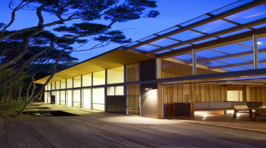Mangawhai Heads, Northland - Point House - architecture architecture, building, daylighting, estate, facade, home, house, property, real estate, residential area, roof, siding, window, blue