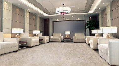 Cork Comfort - Identity Moonlight - Cork Comfort ceiling, floor, flooring, interior design, laminate flooring, living room, lobby, tile, wall, wood flooring, gray
