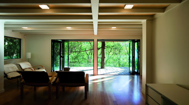Remuera, Auckland - Glade House - architecture | architecture, ceiling, daylighting, house, interior design, living room, real estate, room, window, wood, brown