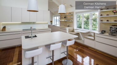 Highly Commended – German Kitchens, Damian Hannah – cabinetry, countertop, cuisine classique, floor, interior design, kitchen, property, room, gray