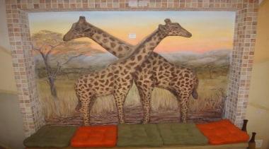 Dcocrete 45 - Dcocrete_45 - art   fauna art, fauna, giraffe, giraffidae, painting, terrestrial animal, wildlife, brown