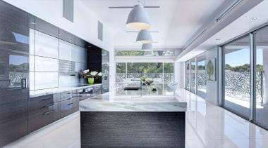 Winner Kitchen Design fo the Year 2013 South architecture, countertop, daylighting, house, interior design, kitchen, real estate, window, white, gray