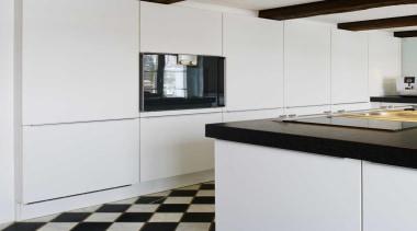 Black and White Kitchen IdeasFor more information, please countertop, floor, home appliance, interior design, kitchen, room, white