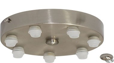 FeaturesThis accessory is a ceiling pan with 7 hardware, product design, gray, white