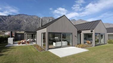 Landmark Homes Design & Build - Landmark Homes cottage, elevation, estate, facade, home, house, property, real estate, roof, siding, window, gray, teal