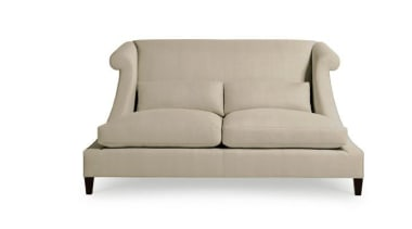 """""""Upholstery helps set the foundation for how a angle, chair, comfort, couch, furniture, loveseat, outdoor sofa, product design, sofa bed, studio couch, white"""
