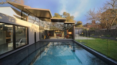 Rossetti Architects, MelbourneSee the full storyThis home architecture, estate, home, house, property, real estate, swimming pool, black