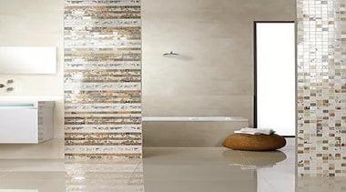 For more information, please visit Casa Italiana bathroom, bathroom accessory, ceramic, floor, flooring, interior design, plumbing fixture, tap, tile, wall, gray