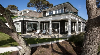 Exterior - building   cottage   estate   building, cottage, estate, facade, farmhouse, historic house, home, house, mansion, property, real estate, villa, window, gray, black