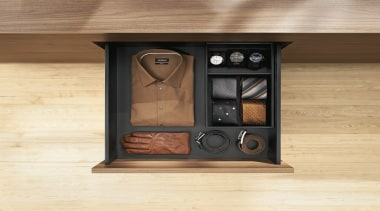 AMBIA-LINE inner dividing system – organization at its furniture, orange, brown