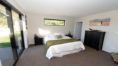 This bedroom has plenty of natural light coming bedroom, ceiling, estate, home, house, property, real estate, room, window, gray