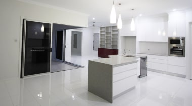 Winner Kitchen of the Year 2013 North Queensland cabinetry, countertop, floor, flooring, home appliance, interior design, kitchen, product design, property, real estate, room, white, gray