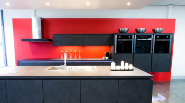 Your choice of these sleek built-in ovensFor more cabinetry, countertop, interior design, kitchen, product design, room, white, black