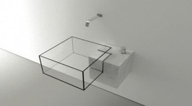 This sharp corned cuboid outline appears to hang angle, bathroom sink, plumbing fixture, product design, table, tap, gray, white