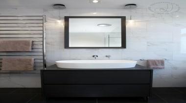 Stylish Bathroom - Stylish Bathroom - bathroom | bathroom, bathroom accessory, bathroom cabinet, bathroom sink, floor, interior design, plumbing fixture, product design, room, sink, tap, tile, gray, black, white