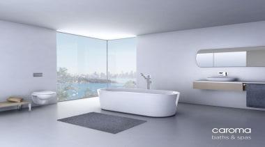 Caroma Aura Freestanding Bath: Nothing says luxury like angle, bathroom, bathroom accessory, bathroom cabinet, bathroom sink, floor, interior design, plumbing fixture, product, product design, sink, tap, gray